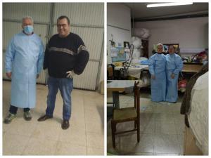 Un taller de San Bartolomé fabrica EPIs para el Hospital Vega Baja