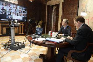Ximo Puig mantiene una reunión con personas expertas para abordar el pase de la Comunidad Valenciana a la fase 1 del proceso de desescalada