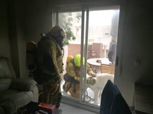 Evacuado un matrimonio y sus mascotas por un incendio en su vivienda en Torrevieja