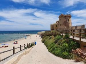 Colomer entrega las banderas Qualitur en las playas de Pilar de la Horadada y Torrevieja