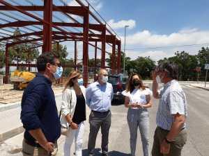 Las obras del pabellón deportivo cubierto de Benejúzar en fase de remate de cimentación