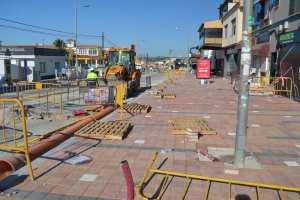 Las obras de reurbanización de la Avenida de las Naciones de Rojales avanzan a buen ritmo