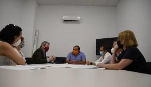 Técnicos de la Dirección General del Agua analizan la situación de las aguas pluviales en el entorno del monte de San Miguel