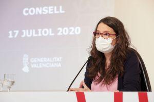 """Oltra: """"La mascarilla es nuestra única vacuna contra la COVID-19"""""""
