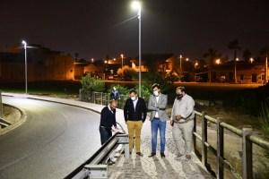 Orihuela inaugura nuevo alumbrado de los puentes sobre la línea del AVE