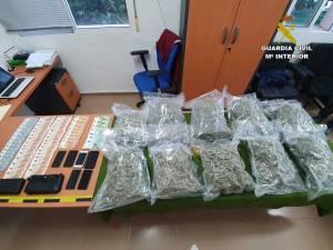 Detenidos dos traficantes de droga en un control establecido para el cierre perimetral en la A-7 a la altura de Orihuela