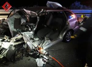 Fallece el conductor de un vehículo tras chocar frontalmente contra otro coche en la AP-7 en Torrevieja