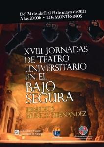 La UA y el Ayuntamiento de Los Montesinos celebran las XVIII Jornadas de Teatro Universitario en el Bajo Segura con cuatro obras y entrada gratuita