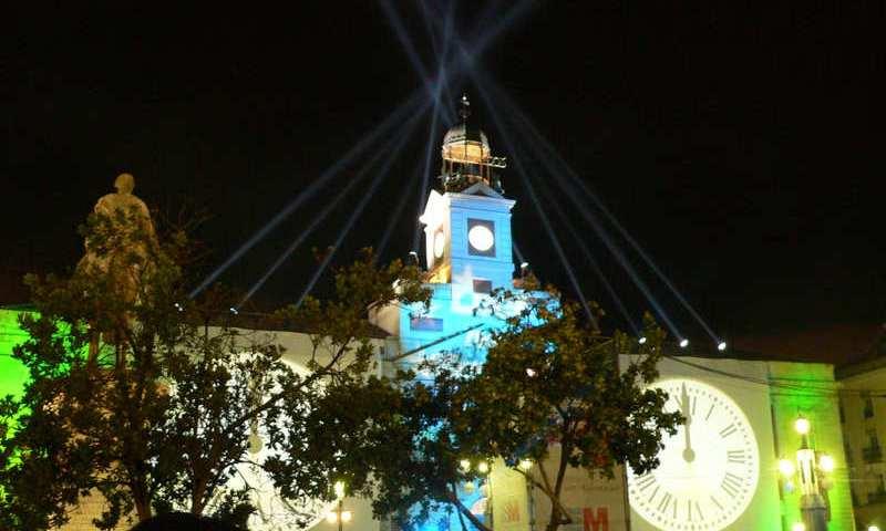 Puerta del Sol en Nochevieja, Madrid