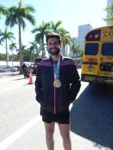 Pablo Cano en la maraton de Miami