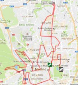 Recorrido maratón de Madrid