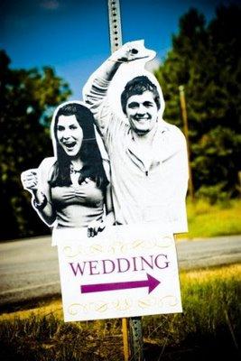 cartel divertido wedding sign