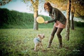Preboda con Mascotas Totto con globo