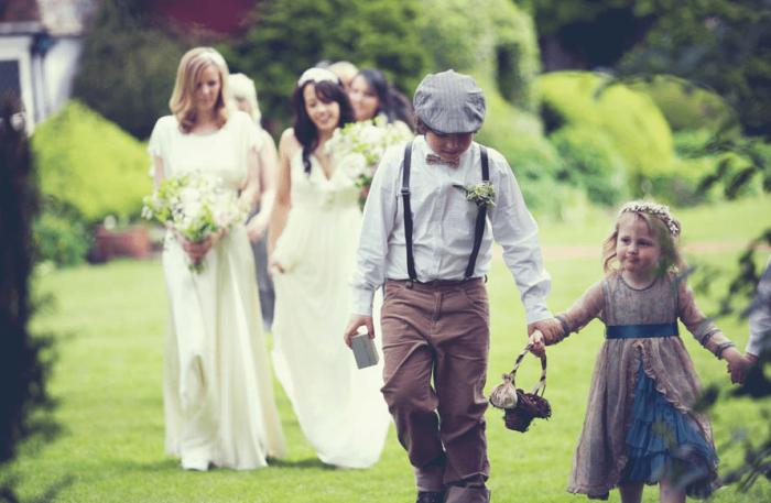 llegada de las novias