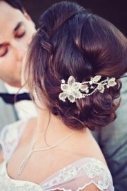 tocado de novia pequeña