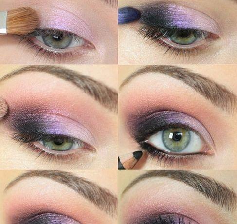 smokey eye para ojos verde