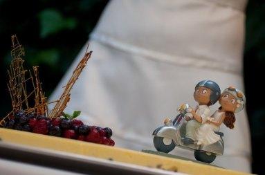 Decoración de boda con vespa