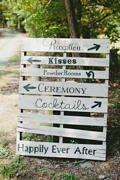 cartel de madera boda