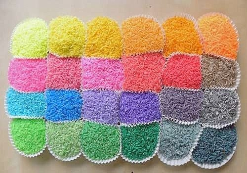 Arroz de colores