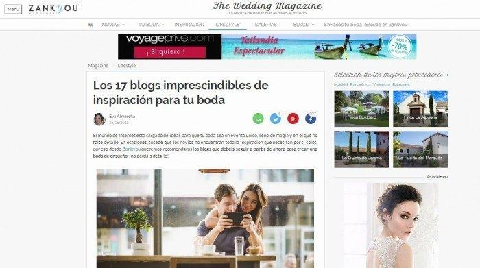 mejores blogs de bodas segun Zankyou