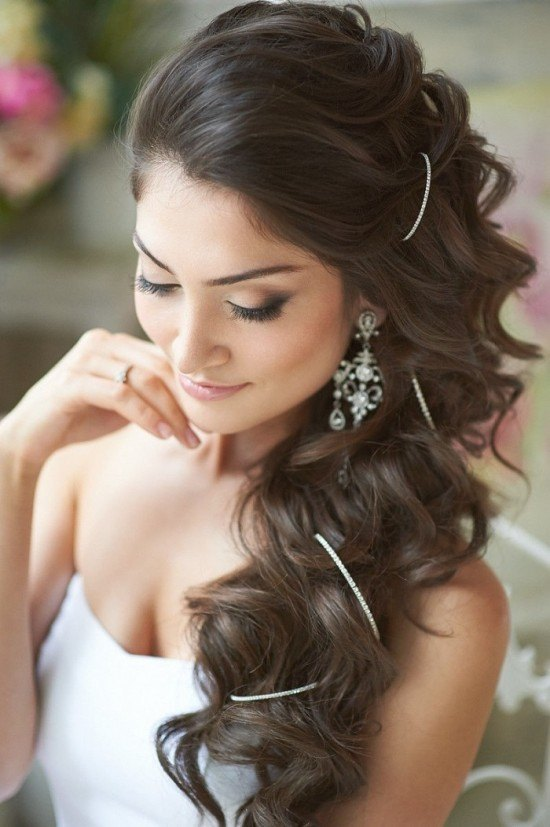 peinados para novias con el pelo suelto