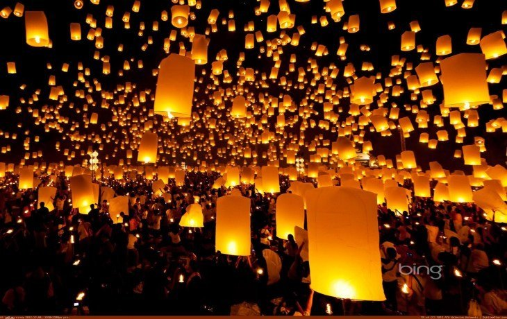 lanterns-released-into-sky-during-a-festival-chiang-mai-province-thailand