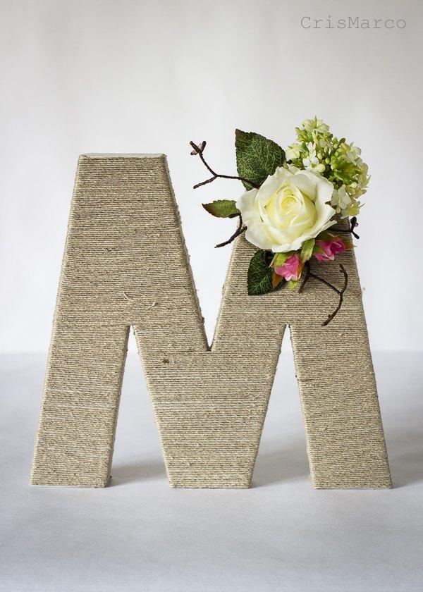 Como decorar letras para bodas