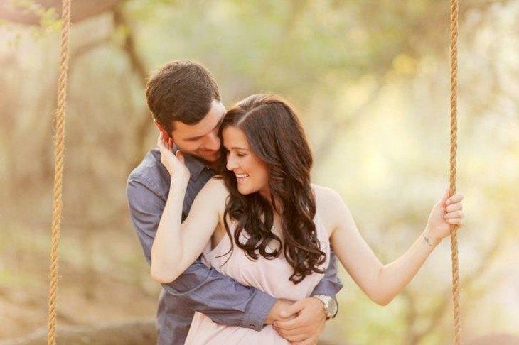 pre boda inspirada en San Valentin en el bosque