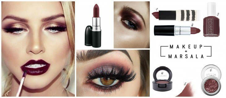 Make up with Marsala Color