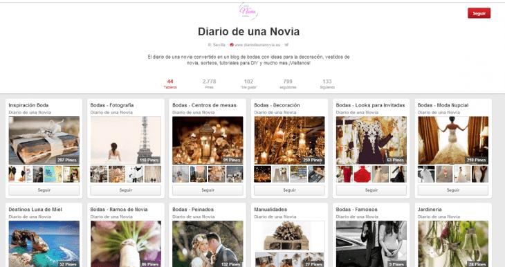 Pinterest Diario de una Novia