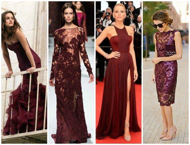 famosos con vestido en color versala
