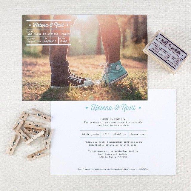 invitaciones de boda personalizado