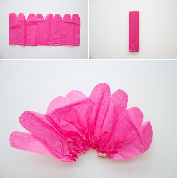 guirnaldas de flores de papel paso 2