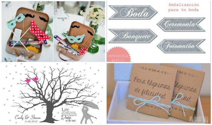 5 tipo de plantillas para bodas