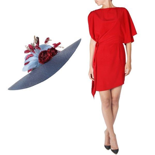 vestido y complementos de alquiler