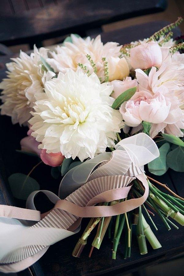 dalias para ramo de novia