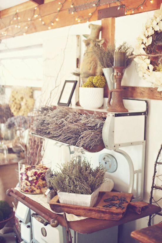 decoración de bodas rusticas cocina antigua - Ideas para la Decoración de Bodas Rústicas