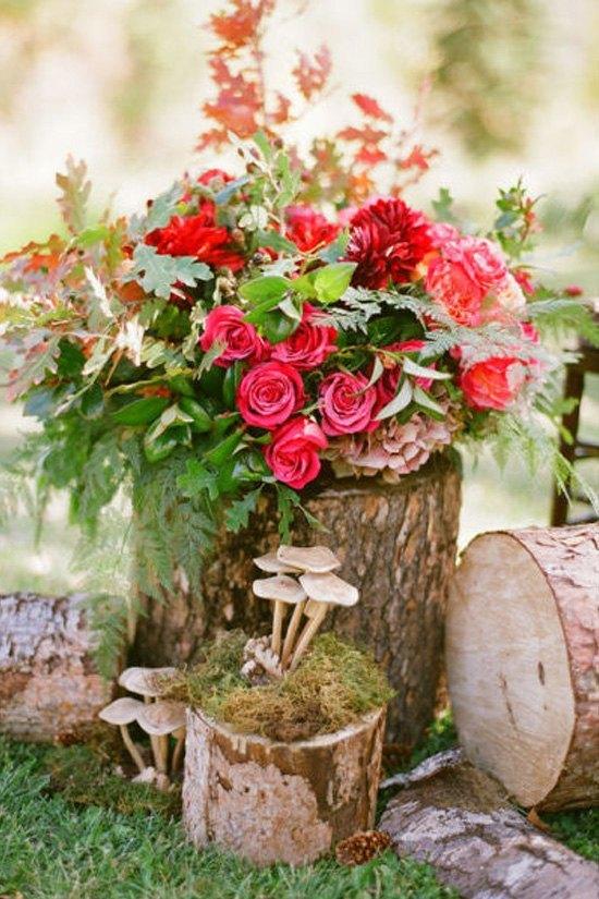 decoración de bodas rusticas maderas y flores - Ideas para la Decoración de Bodas Rústicas