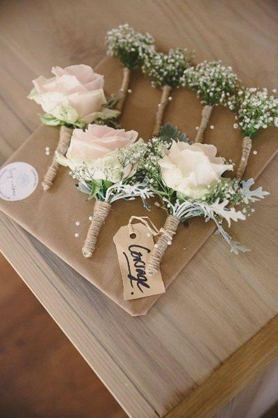 decoración de bodas rusticas prendidos - Ideas para la Decoración de Bodas Rústicas