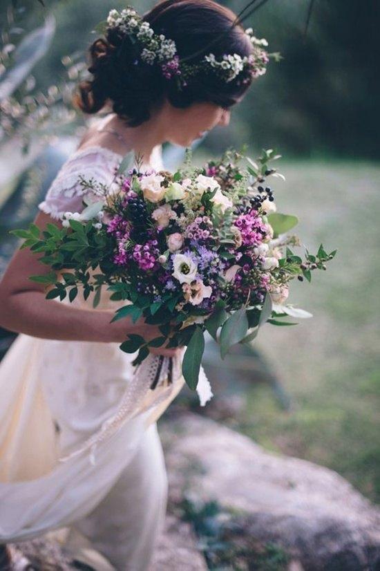 decoración de bodas rusticas ramo de novia - Ideas para la Decoración de Bodas Rústicas