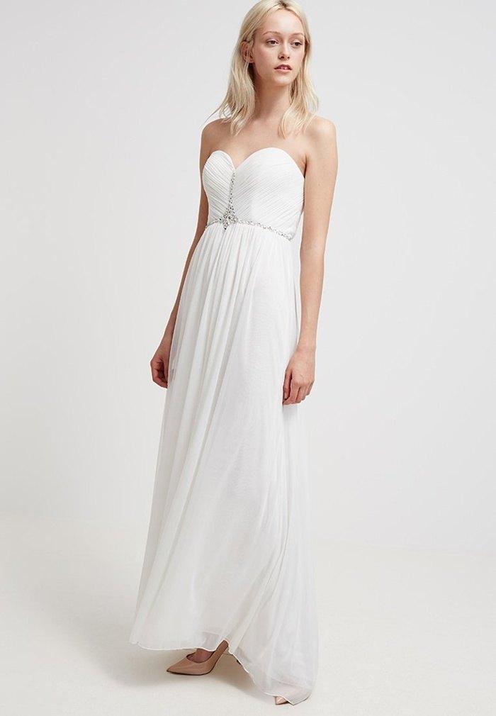 vestido de novia low cost vaporosa zalando