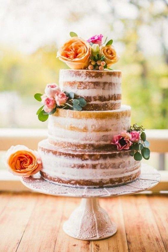 Naked cake con rosas