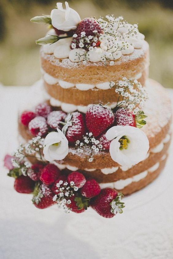 naked cake con fresas