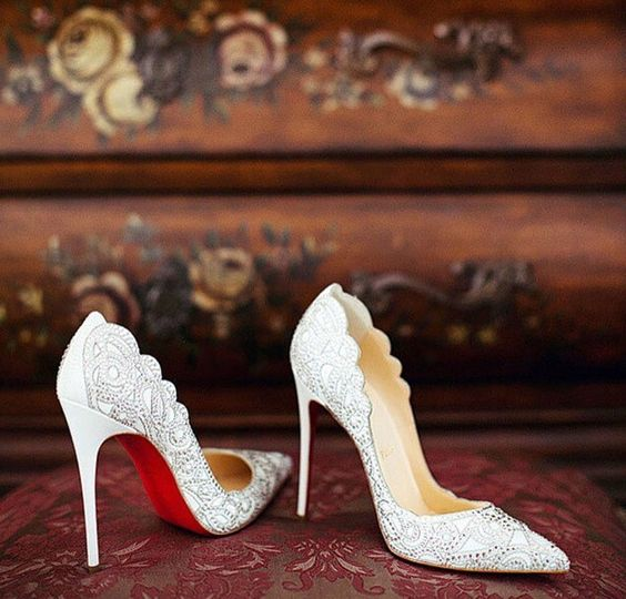 zapatos de novia salones suela rojo - elegir tus zapatos de novia