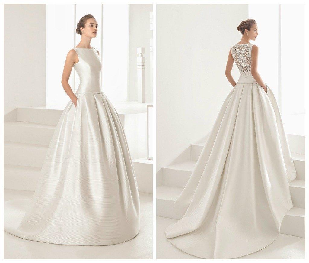 Vestidos de novia sencillos elegantes