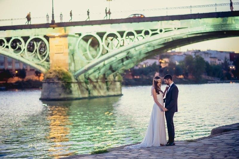 Postboda en Sevilla Puente Triana 3