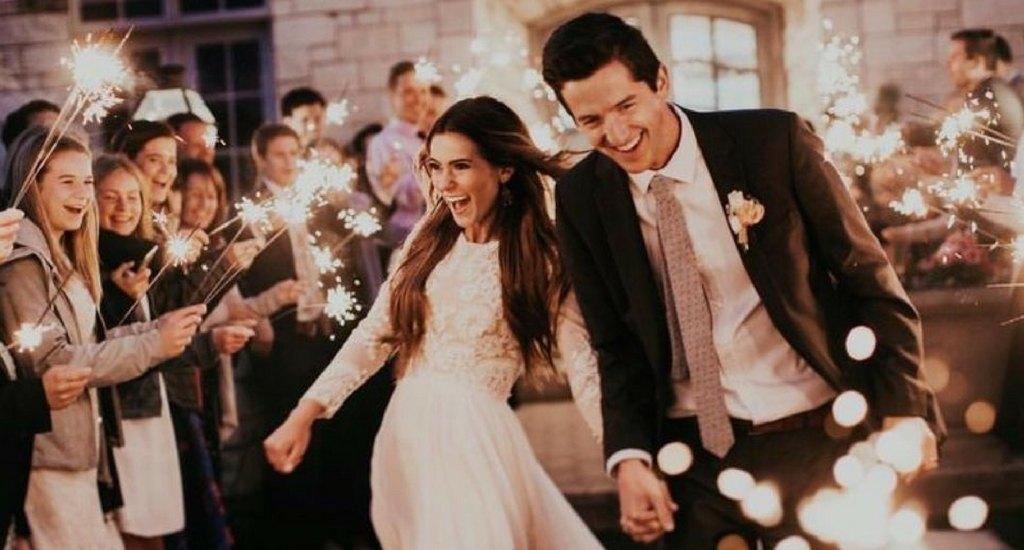 ideas para usar bengalas para bodas