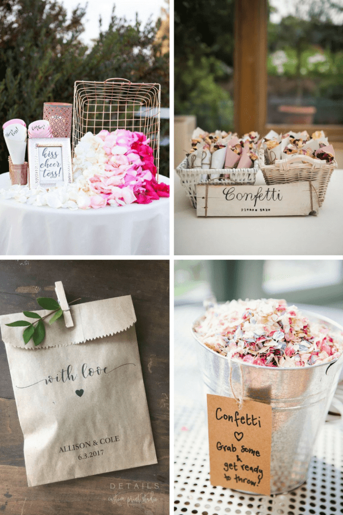 Ideas confetti boda - decorar una ceremonia civil