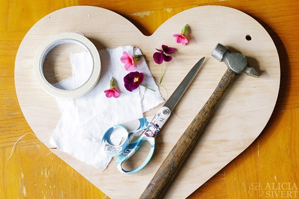 DIY pintar flores materiales