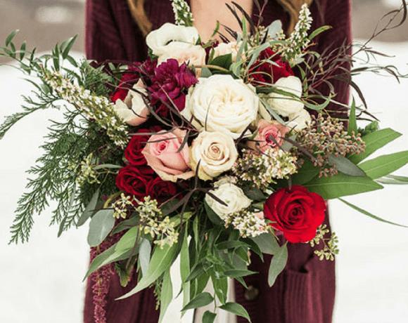 ramos de novia para invierno